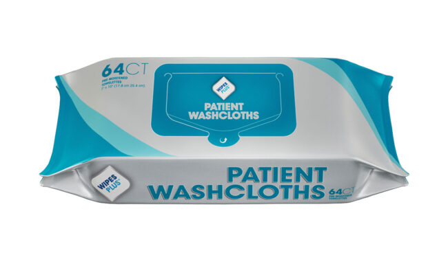 WipesPlus_37605_Patient-Washcloths_Refill-Pack_64CT